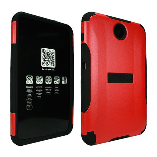 Red Trident Aegis Series Hard Cover on Silicone Case w/ Screen Protector for Samsung Galaxy Note 8.0 - AG-SAM-NOTE8-RED