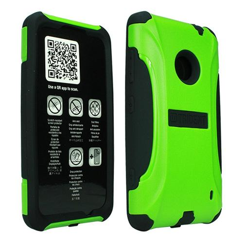 Trident Lime Green/ Black Aegis Series Hard Cover on Silicone Case w/ Screen Protector for Nokia Lumia 520 - AG-NOK-LUMIA520-TG
