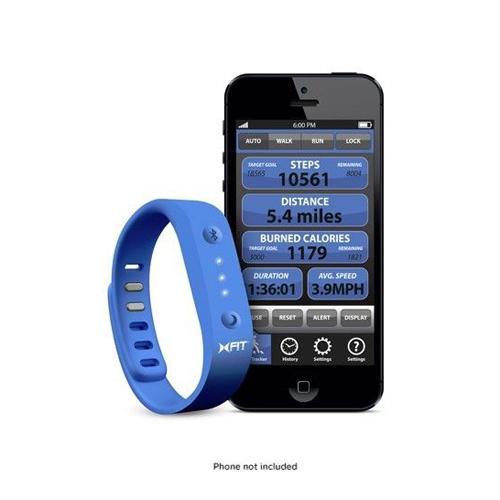 Xtreme Blue & Black XFIT Band Activity & Sleep Monitor - Works w/ Apple & Android Devices!