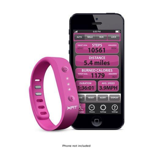 Xtreme Hot Pink & Black Universal XFIT Band Activity & Sleep Monitor - Works w/ Apple & Android Devices!