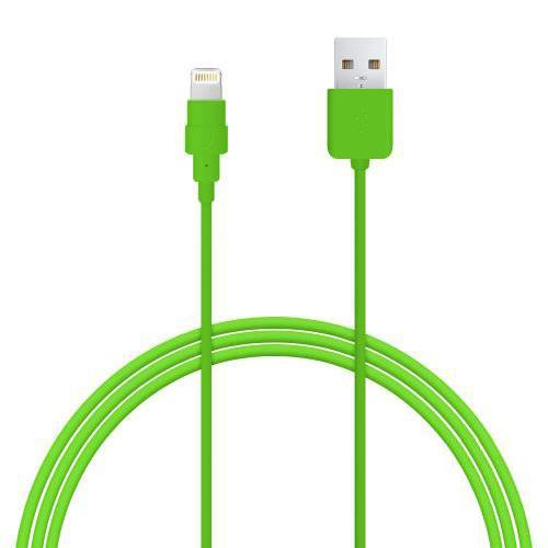 Lime Green MFI Certified Lightning Compatible to USB Charge & Sync Data Cable - 6ft/1.8M