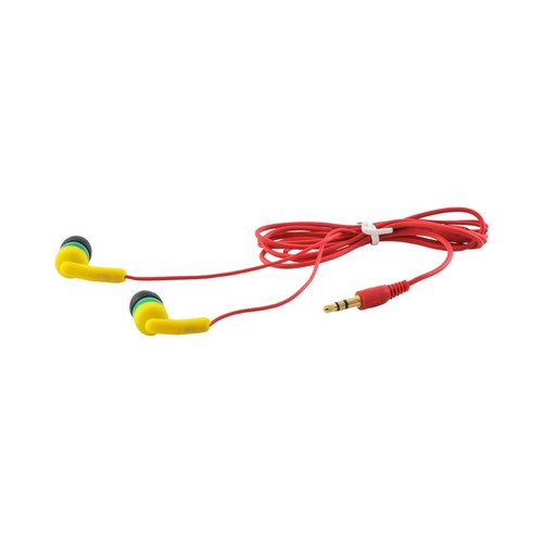 OEM iHip Fashionable Noise Isolating Earbud Headset w/ Mic (3.5mm), IP-JESSAMINE - Yellow/Green/Red