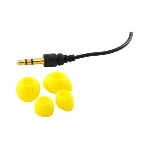 OEM iHip Fashionable Noise Isolating Earbud Headset w/ Mic (3.5mm), IP-SUNFLOWER - Blue/Pink/Black