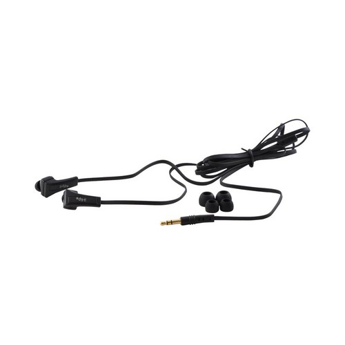 OEM iHip Eclipse Universal Noise Isolating Earbud Headset w/ Flat Cord & Mic, IP-ECLIPSE-BK - Black