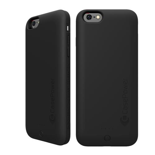 CasePower Black EDGE PowerCase Portable Charging Case  Made for Apple iPhone 6 (4.7 inch) [3000mAh]