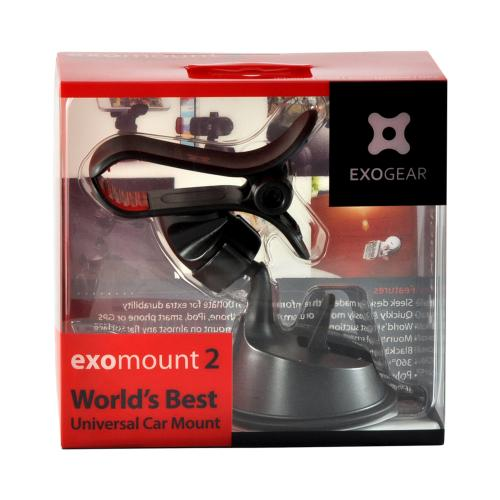 ExoGear Black ExoMount 2 Universal Phone/ MP3 Suction Car Mount