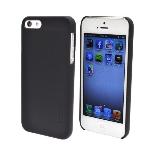 OEM Incipio Feather Apple iPhone 5/5S Ultra-Thin Rubberized Hard Case w/ Screen Protector  IPH-805 - Black