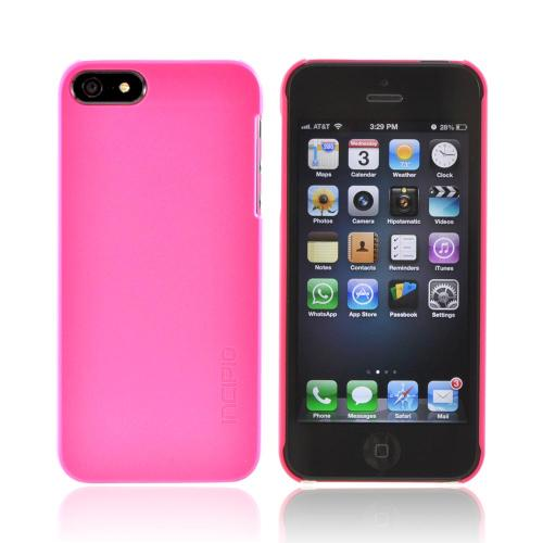 Incipio Hot Pink Feather Series Ultra-Thin Rubberized Hard Case w/ Screen Protector for Apple iPhone 5/5S - IPH-806
