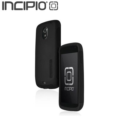 Incipio Silicrylic Samsung Galaxy Nexus Hard Cover Over Silicone w/ Screen Protector - Black