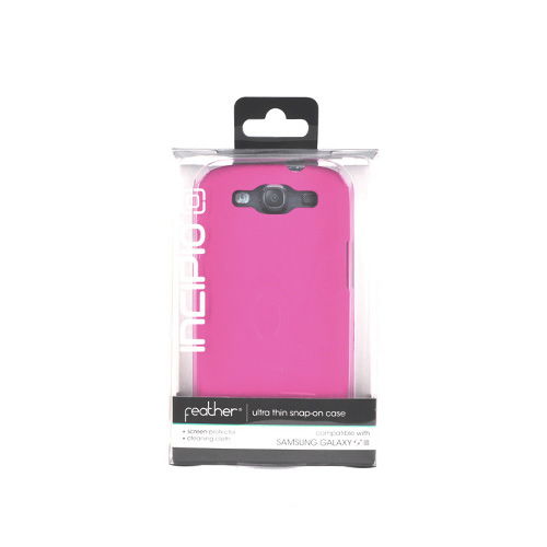 Incipio Feather Samsung Galaxy S3 Rubberized Hard Case w/ Screen Protector - Pink