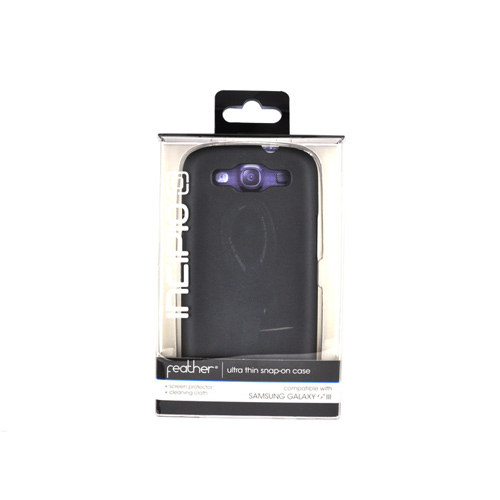 Incipio Feather Samsung Galaxy S3 Rubberized Hard Case w/ Screen Protector - Gray