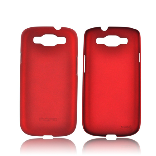 Incipio Feather Samsung Galaxy S3 Rubberized Hard Case w/ Screen Protector - Red