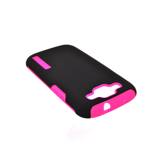 Incipio Silicrylic Samsung Galaxy S3 Hard Case on Silicone w/ Screen Protector - Black on Hot Pink