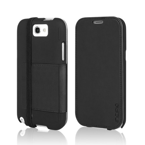 Incipio Black LGND Series Slim Folio Hard Case w/ Stand & Screen Protector for Samsung Galaxy Note 2