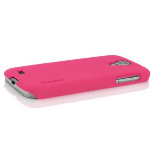 Incipio Hot Pink Feather Series Rubberized Hard Case w/ Screen Protector for Samsung Galaxy S4