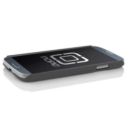 Incipio Charcoal Gray Feather Series Rubberized Hard Case w/ Screen Protector for Samsung Galaxy S4