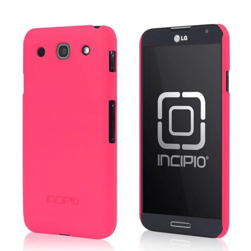 Incipio Hot Pink Feather Series Rubberized Hard Case w/ Screen Protector for LG Optimus G Pro - LGE-178