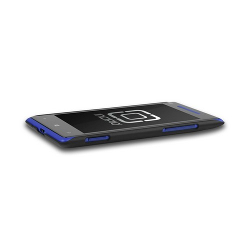 Incipio Black Feather Series Hard Case on Rubberized Hard Case w/ Screen Protector for HTC 8X