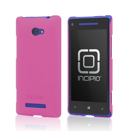 Incipio Pink Feather Series Hard Case on Rubberized Hard Case w/ Screen Protector for HTC 8X