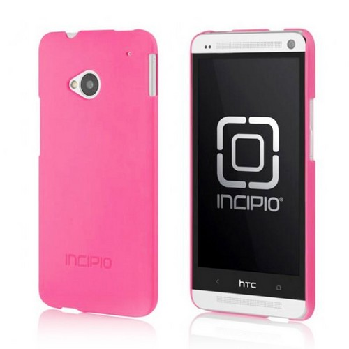 Incipio Hot Pink Feather Series Rubberized Hard Case for HTC One