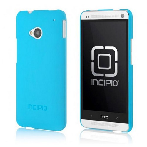 Incipio Sky Blue Feather Series Rubberized Hard Case for HTC One