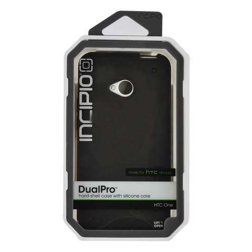 Incipio Black Dual PRO Series Hard Case on Silicone for HTC One