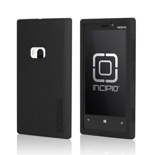 Incipio Black Dual Pro Hard Cover Over Silicone w/ Screen Protector for Nokia Lumia 920