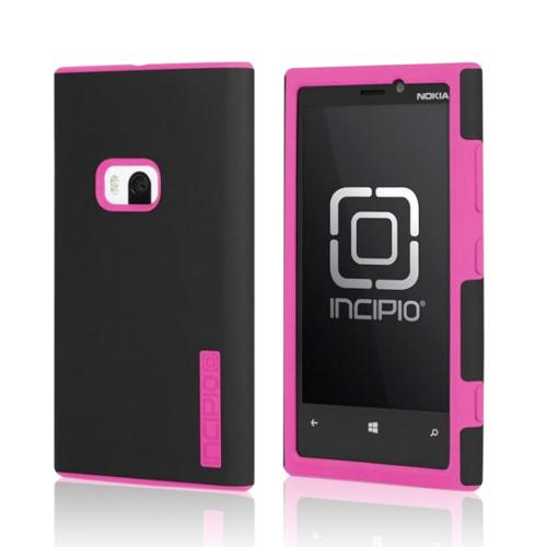 Incipio Black/ Hot Pink DualPro Series Hard Cover Over Silicone w/ Screen Protector for Nokia Lumia 920
