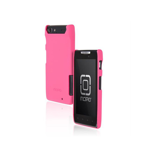 Incipio Feather Motorola Droid RAZR Rubberized Hard Case w/ Screen Protector - Pink