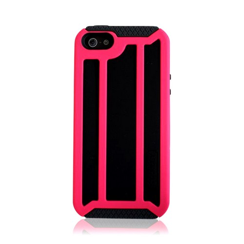Apple iPhone SE / 5 / 5S  Case, Incipio [Hot Pink/ Black] Stanley Highwire Series Rugged Hard Case on Silicone w/ Holster & Screen Protector