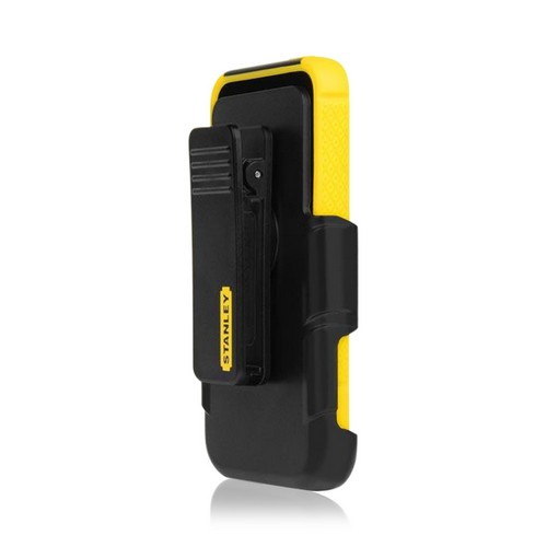 Yellow/ Black Rugged Hard Case on Silicone w/ Holster & Screen Protector OEM Incipio for Apple iPhone 5/5S Stanley Technician Series