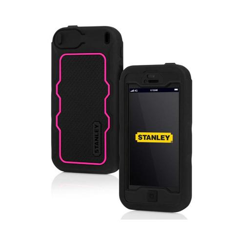 Apple iPhone SE / 5 / 5S  Case, Incipio [Hot Pink/ Black] Stanley Dozer Series Rugged Hard Case on Silicone w/ Holster & Screen Protector