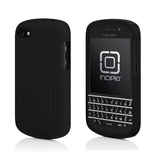 OEM Incipio Black DualPro Hard Case Over Silicone w/ Screen Protector for Blackberry Q10