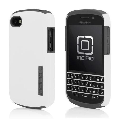 OEM Incipio White/Gray DualPro Hard Case Over Silicone w/ Screen Protector for Blackberry Q10