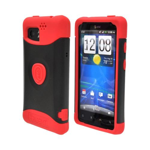 OEM Trident Aegis HTC Vivid Hard Cover Over Silicone Case w/ Screen Protector - Red/ Black