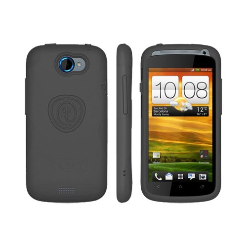 Original Trident HTC One S Aegis Hard Case Over Silicone w/ Screen Protector, AG-VILLE-BK - Black