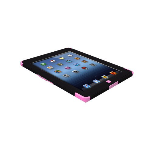Trident Kraken AMS Apple New iPad Hard Case Over Silicone w/ Screen Protector - Pink/ Black