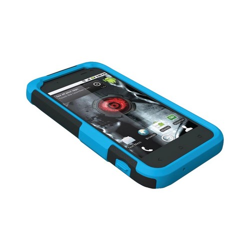 Trident Aegis HTC Droid Incredible 4G LTE Hard Case Over Silicone w/ Screen Protector - Blue/ Black