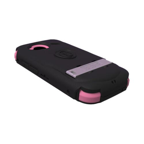OEM Trident Kraken AMS HTC Droid Incredible 4G LTE Hard Case Over Silicone w/ Screen Protector, Kickstand & Belt Clip - Black/ Pink