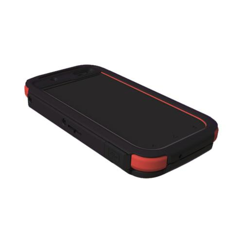 OEM Trident Kraken AMS HTC Droid Incredible 4G LTE Hard Case Over Silicone w/ Screen Protector, Kickstand & Belt Clip - Black/ Red