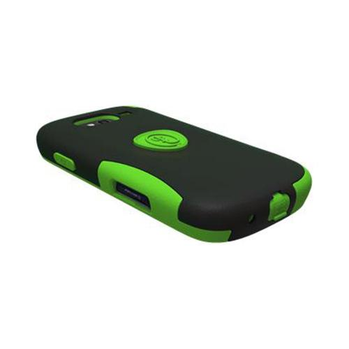 OEM Trident Aegis Samsung Galaxy S Blaze 4G Hard Case Over Silicone w/ Screen Protector - Green/ Black