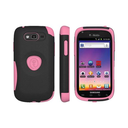 OEM Trident Aegis Samsung Galaxy S Blaze 4G Hard Case Over Silicone w/ Screen Protector - Pink/ Black