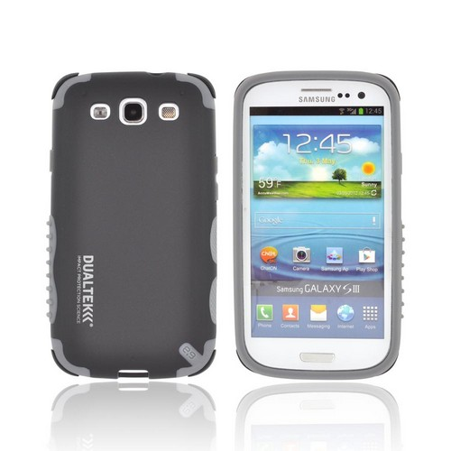 PureGear Samsung Galaxy S3 DualTek Extreme Shock Hybrid Hard Case w/ Screen Protector - Black/ Gray