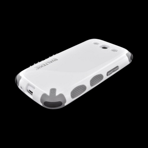 PureGear Samsung Galaxy S3 DualTek Extreme Shock Hybrid Hard Case w/ Screen Protector - White/ Gray
