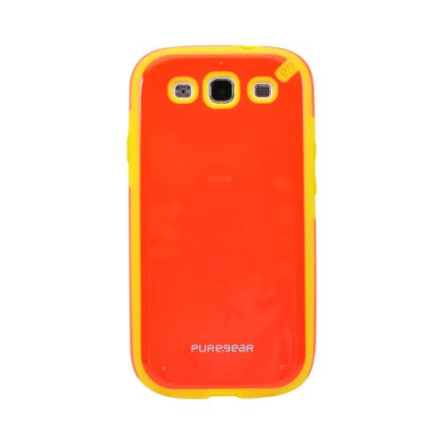 OEM PureGear Samsung Galaxy S3 Slim Shell Hybrid Hard Case, 02-001-01762 - Orange/ Yellow