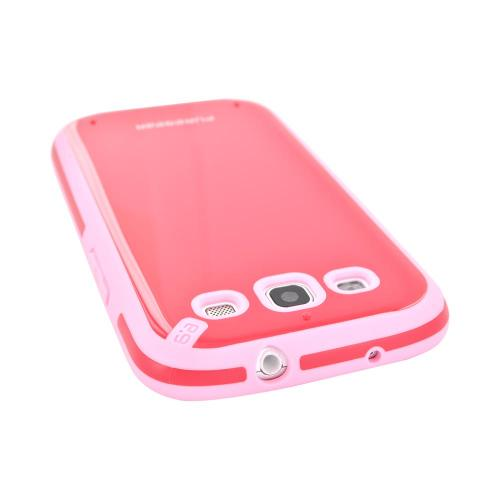 OEM PureGear Samsung Galaxy S3 Slim Shell Hybrid Hard Case, 02-001-01765 - Strawberry/ Baby Pink