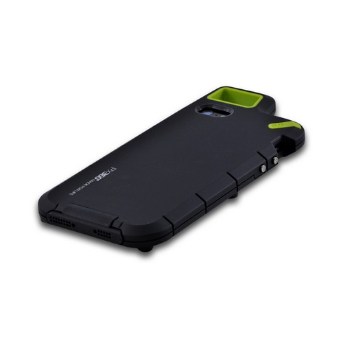 OEM PureGear Apple iPhone 5/5S PX360 Rubberized Hard Impact Case w/ Utility Tool  Carabiner & Screen Protector - Black/ Lime Green