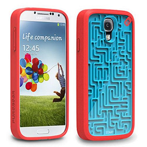 PureGear Blue/ Red A-Maze-Ing Flexible Gamer Case for Samsung Galaxy S4 - 60169PG