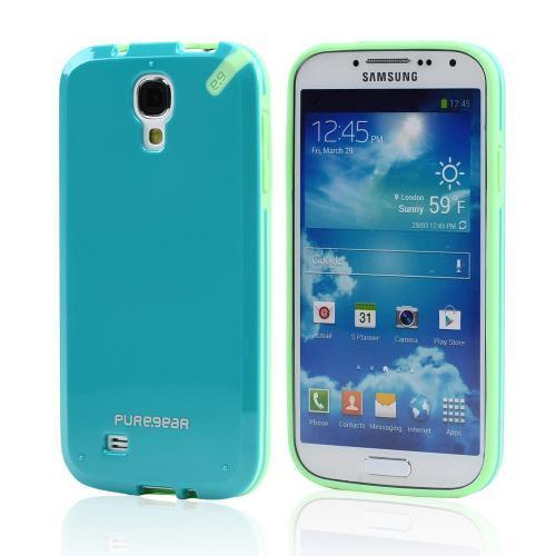PureGear Turquoise/ Seafoam Slim Shell Hybrid Hard Case for Samsung Galaxy S4 - 60206PG