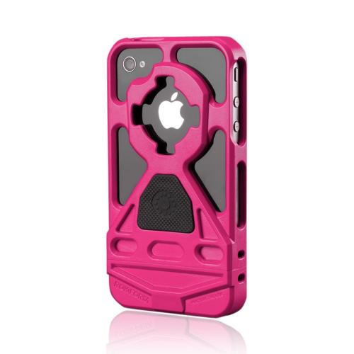 OEM Rokform v3 Apple iPhone 4/4S Hard Case w/ Mount & Lanyard - Hot Pink